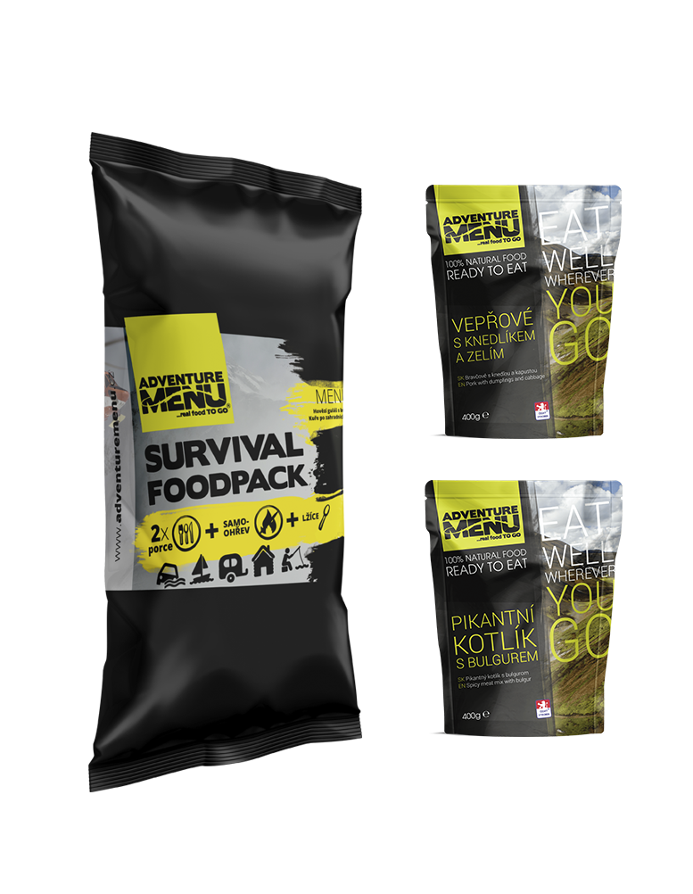 Survival food pack - menu II